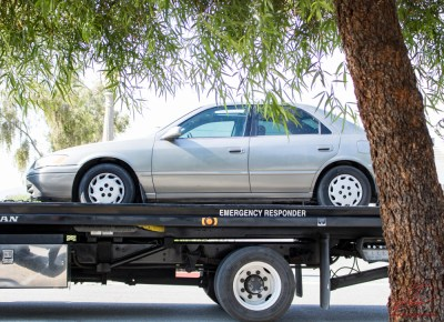The stolen vehicle that was towed from the location was later returned to its' owner. John Strangis photo