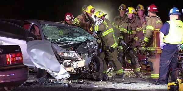 JURUPA VALLEY: DUI suspected in head-on crash that seriously injured four