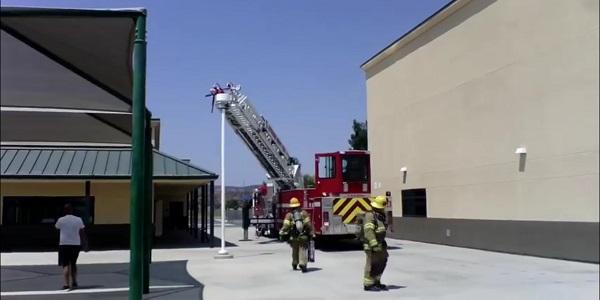 Malfunctioning AC unit causes fire scare at Murrieta school