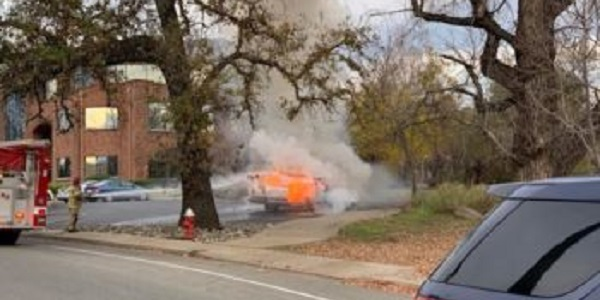Furious after running out of gas, man torches own car