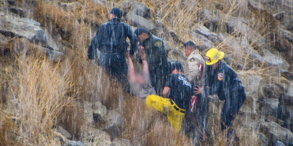 Woman rescued after swept into MoVal flood channel
