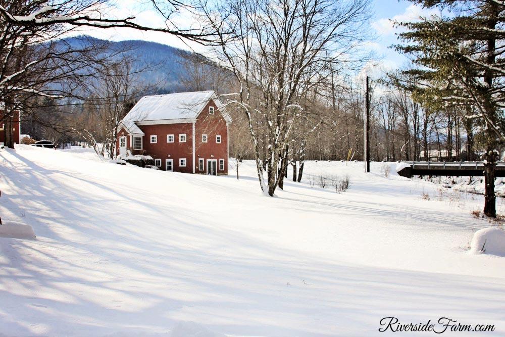 Winter Wonderland Snow Wedding Barns Fences Fields February 2014 Riverside Farm Vermont