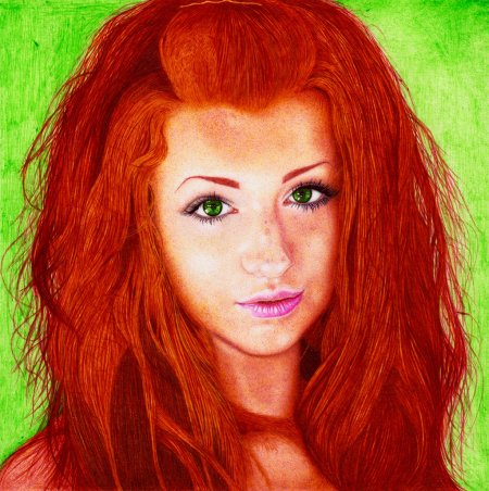 redhead_girl___ballpoint_pen_by_danteslp-d6fvrti