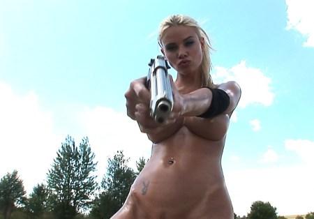 Blonde with Hand Gun