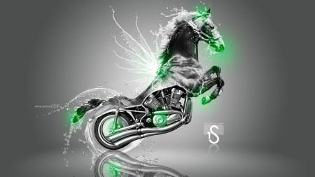 moto-harley-davidson-fantasy-water-horse-2013-green-neon-by-tony-kokhan-www-el-tony-com_