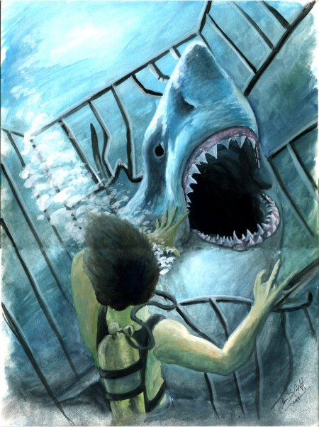 Hooper_and_the_shark_by_acarabet