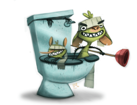 daily_painting_722__toilet_ninja_trolls_by_cryptid_creations-d864xc4