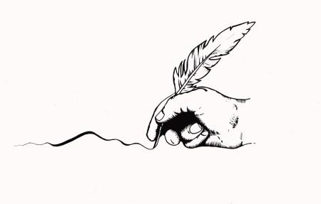 Malvern literary quill logo