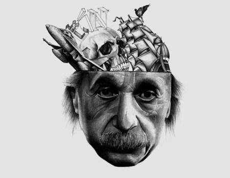 Einstein Fan Art Pencil Drawing Sketch Science Geek
