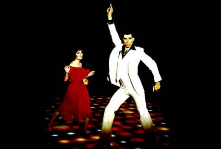 Framed-Art Print-08322-John Travolta Saturday Night Fever-People-Giclee Paper-A
