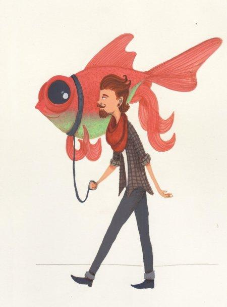 goldfish_walker_by_bamills-d936590