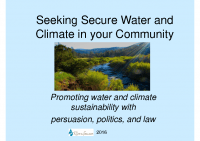 Secure Water and Climate Presentation 2016