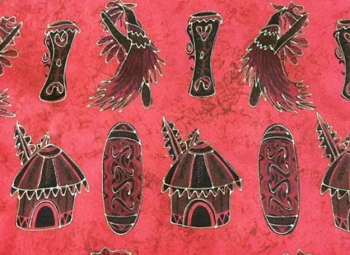 Gambar motif tifa honai Papua