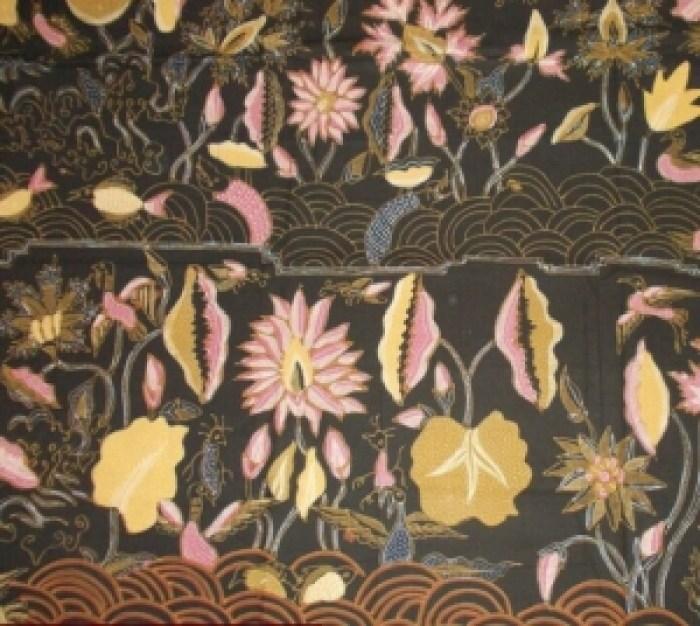 Gambar batik teratai