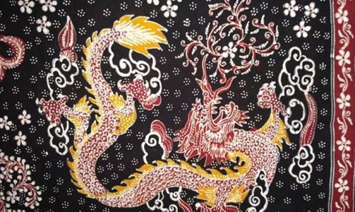 Gambar motif naga Lasem