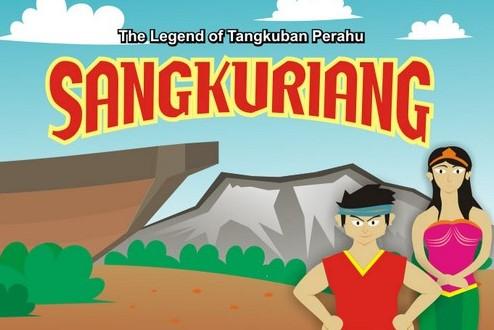 Gambar legenda Sangkuriang dan Tangkuban Perahu