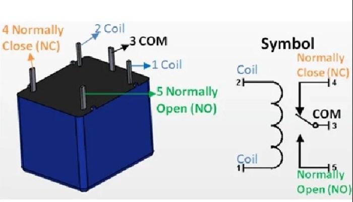 Gambar skema cara kerja relay 12 volt