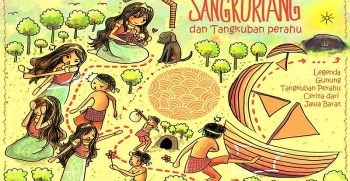 Gambar ilustrasi cerita rakyat Sangkuriang