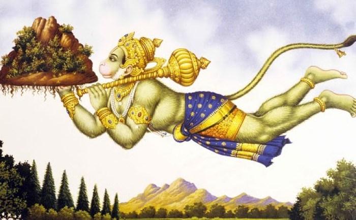 Ilustrasi gambar cerita Hanuman si kera putih sakti