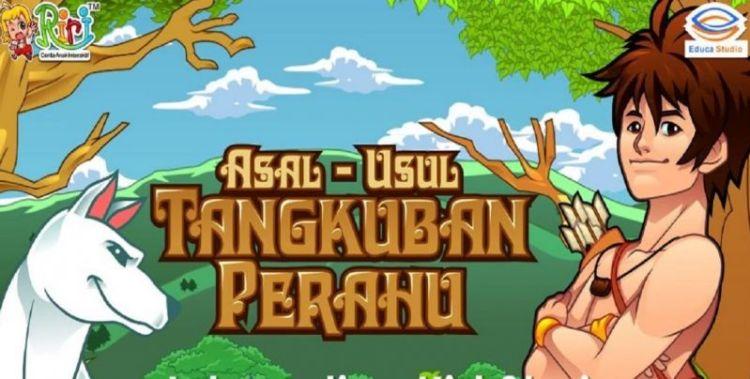 Ilustrasi cerita rakyat Nusantara Tangkuban Perahu