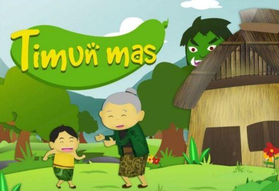 Ilustrasi dongeng cerita rakyat Timun Mas dari Jawa Tengah