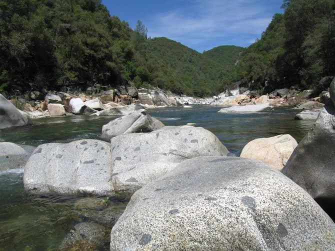 Downstream from Mother's Beach on South Yuba River, Nevada County, CA.