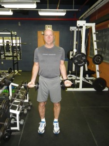 Bicep curls starting position