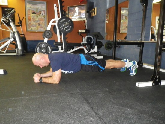 exercises for paddlers: plank position