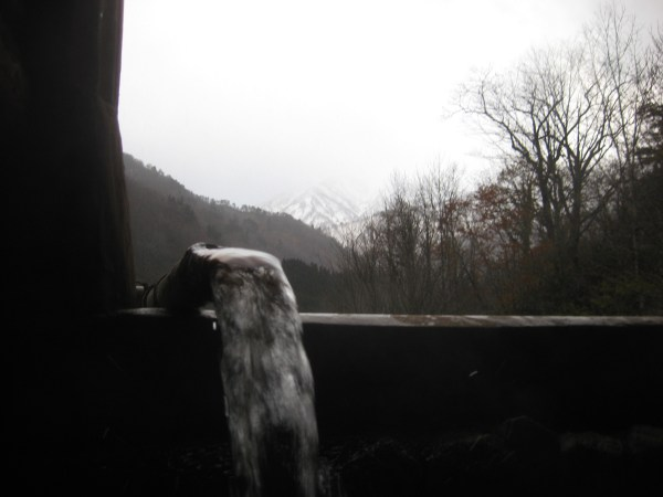 Hot spring water and cold mountains in Japan