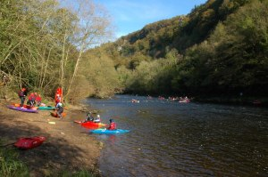 Canoes on the River Wye