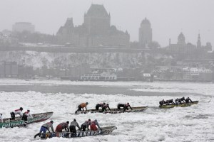 The event takes place in a historic city.  Photo credit: Quebec Winter Carnival