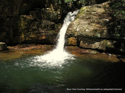 Blue Hole offers a refreshing pool to visit . . . and take a dip!