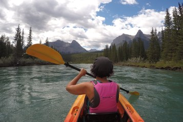 Recent paddling trip from Banff to Canmore on the Bow River