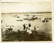 Biplane on Delaware River photo