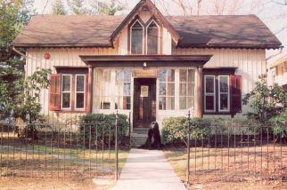 Riverton Free Library, recent postcard