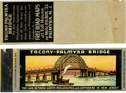 Tacony-Palmyra Bridge matchbook