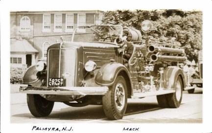 Palmyra Mack fire truck, no date, eBay