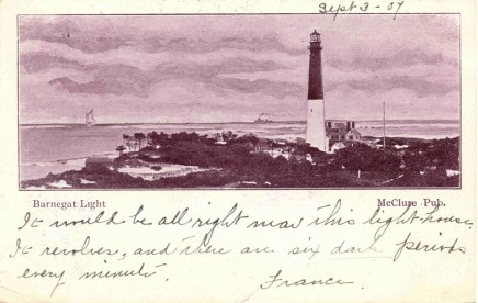 Barnegat Light - 1907 eyewitness account