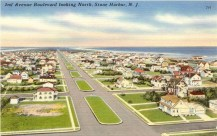 2nd Avenue Blvd., looking North, Stone Harbor, NJ