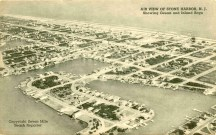 Air View of Stone Harbor, NJ Showing Ocean and Inland Bays