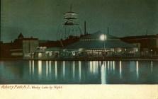 Asbury Park, NJ, Wesley Lake by Night