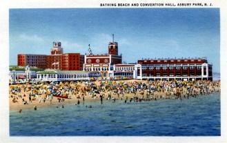 Bathing Beach and Convention Hall, Asbury Park, NJ