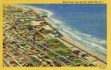 Beach Front from the Air, Ocean City, NJ
