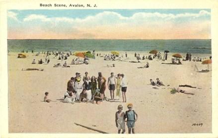 Beach Scene, Avalon, NJ