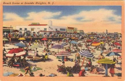 Beach Scene at Seaside Heights, NJ