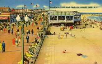 Boardwalk and Band Pavilion, Asbury Park, NJ