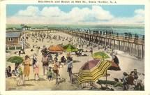 Boardwalk and Beach at 96th St., Stone Harbor, NJ