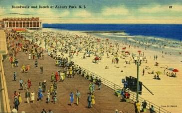Boardwalk and Beach at Asbury Park, NJ