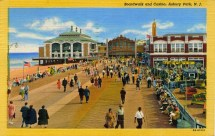 Boardwalk and Casino, Asbury Park, NJ 1948