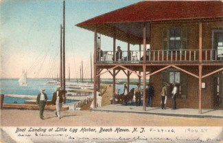 Boat Landing at Little Egg Harbor, Beach Haven, NJ 1906